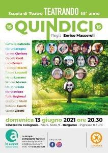 le acque compagnia teatrale Bergamo - '21 Quindici